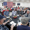MIKE SPRINGER/Staff photo<br /> A large group attend the Veterans Recognition Dinner sponsored by the Rotary Clubs of Derry on Thursday at the Boys and Girls Club of Derry.<br /> 5/30/2019