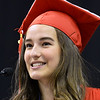 CARL RUSSO/Staff photo Pinkerton's Valedictorian, Maria Gibeau addresses the audience. <br /> <br /> Over 700 Pinkerton Academy seniors graduated Monday afternoon from the Southern New Hampshire University Arena in Manchester.  6/10/2019
