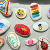 CARL RUSSO/staff photo. DERRY NEWS: First Parish Church is doing a Kindness Rocks project, where small rocks are painted with uplifting, positive messages and placed around the community. Kindness Rocks is a national program that many communities are doing. 3/2/2019