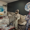 AMANDA SABGA/Staff photo<br /> <br /> The Alan Shepard room at the Derry History Museum at the Adams Memorial Building in Derry, NH.<br /> <br /> 5/4/19