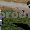 TIM JEAN/Staff photo<br /> <br /> Sebastien Girard-Govoni, 6, has his photo taken by his father Richard Govoni, of Londonderry after they ran in North Londonderry School first annual Fall Fun Run held at Mack's Apples. 11/2/19