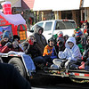 TIM JEAN/Staff photo <br /> <br /> Members of the Professional Martial Arts Academy wave from a float during the Annual Nutfield Holiday Parade in Derry, NH.     11/30/19