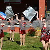 CARL RUSSO/Staff photo. DERRY NEWS: The Red Star Twirlers perfrom. The 30th annual Derryfest was held Saturday in MacGregor Park. The park was full of booths, entertainment on stage, businesses under tents etc. The  300th anniversary of Nutfield  time capsule and its contents was on display at the Derry Heritage Commission booth.  9/21/2019