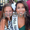 CARL RUSSO/Staff photo. Lizzy Mercier, 8 of Atkinson, first place winner (youth Div.) of the Greater Derry Got Talent contest poses with Miss New Hampshire 2019, Sarah Tubbs of Sandown.  <br /> <br /> The 30th annual Derryfest was held Saturday in MacGregor Park. The park was full of booths, entertainment on stage, businesses under tents etc. The  300th anniversary of Nutfield  time capsule and its contents was on display at the Derry Heritage Commission booth.  9/21/2019