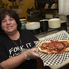 TIM JEAN/Staff photo  <br /> <br /> Rig a Tony's owner Lisa DeSisto with one of her signature meatball sub. The Italian take-out now has a restaurant in Windham.     4/1/20