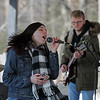 MIKE SPRINGER/Staff photo<br /> Carleigh Mack of Londonderry sings with her group Carleigh Mack and the Haze on Sunday during the 21st annual Frost Festival at Alexander-Carr Park in Derry. Playing guitar is Nate Pevear of Derry.<br /> 2/16/2020