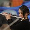MIKE SPRINGER/Staff photo<br /> Naomianna Sahagun plays the flute during a 5th grade winter band concert last Wednesday at Derry Village Elementary School. <br /> 1/19/2020