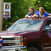 CARL RUSSO/staff photo. Londonderry seniors enjoy the parade.  <br /> <br /> Londonderry high honored the senior class with a senior salute parade on Tuesday afternoon, June 2. <br /> <br /> Teachers and staff decorated their vehicles and cheered and saluted them from the sidelines as the seniors drove around the campus also in decorated vehicles. 6/02/2020