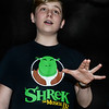 "CARL RUSSO/staff photo. DERRY NEWS: Gilbert H. Hood Middle School Keynotes and Hood's Drama Club presents ""Shrek the Musical Jr."" Greer Danzey, 8th. Grader as Shrek sings a song. 3/6/2020"