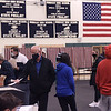 TIM JEAN/Staff photo<br /> <br /> A stead stream of voters cast ballots at the high school on Election Day in Windham, NH.     11/3/20