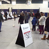TIM JEAN/Staff photo<br /> <br /> Voters wait in lines to pick up ballots before casting their vote on Election Day in Londonderry, NH. Turnout was heavy in the morning then was steady throughout the day.  11/3/20