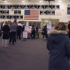 TIM JEAN/Staff photo<br /> <br /> Windham residents stand in line to pick up ballots before voting at the high school on Election Day. 11/3/20