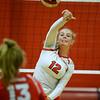 CARL RUSSO/Staff photo. Pinkerton Academy <br /> volleyball player, junior, Ella Koelb. 10/01/2020