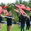 CARL RUSSO/staff photo The Londonderry High School Lancer Marching Band held their annual ''end of official band camp'' show Thursday afternoon.  <br /> <br /> The Lancers, 220 musicians and color guard members, performed this year's repertoire for dozens of family members and friends on the athletic field. 9/03/2020