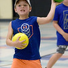 TIM JEAN/Staff photo<br /> <br /> Kellan D'Maria, 7, throws a ball while playing dodgeball during Londonderry's Recreation Summer playground program held at South Elementary School.      7/22/21