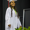 AMANDA SABGA/Staff photo<br /> <br /> Janessa Lopez smiles as she crosses the stage during Pinkerton Academy's 2018 graduation ceremony at the SNHU Arena in Manchester.<br /> <br /> 6/11/18
