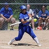 TIM JEAN/Staff photo<br /> <br /> Salem's Ava McNamara drives the ball for a hit during the D1 Softball quarterfinal game against Londonderry. Salem won 10-2.   6/5/21