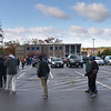 TIM JEAN/Staff photo<br /> <br /> Hundreds stand in line outside Londonderry High School before going inside to cast their vote on Election Day. Turnout was heavy in the morning then was steady throughout the day.  11/3/20