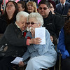 CARL RUSSO/Staff photo. GAZETTE:  Caitlin Trask's  grandmother, Arlene Trask of Beverly, right, and her great aunt, Phyllis Brillant of Londonderry become emotional during the ceremony. The Industrial Bridge on Ferry Road in Bradford was dedicated to U.S. Navy Petty Officer, Caitlin Trask of North Andover and Bradford Saturday morning (4/14). This is the first bridge in the country ever dedicated to a female service member.<br /> Caitlyn Trask, U.S. Navy Petty Officer Third Class, was just 20 years old when she was killed by her ex-boyfriend, a fellow sailor, at a military housing complex in Virginia in 2009. 4/14/2018