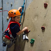 AMANDA SABGA/Staff photo <br /> <br /> Cameron Nicholas, 3, climbs the rock wall at the Haverhill YMCA.<br /> <br /> 8/15/18