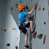AMANDA SABGA/Staff photo <br /> <br /> Jacob Foley, 10, climbs the rock wall at the Haverhill YMCA.<br /> <br /> 8/15/18