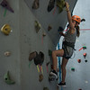 AMANDA SABGA/Staff photo <br /> <br /> Maddie Boucher, 11, climbs the rock wall at the Haverhill YMCA.<br /> <br /> 8/15/18