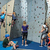 AMANDA SABGA/Staff photo <br /> <br /> Kids climb the rock wall at the Haverhill YMCA.<br /> <br /> 8/15/18