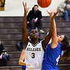 CARL RUSSO/staff photo Haverhill's Leandra Kwo figths for the rebound. The Haverhill Hillies defeated Hopedale in girls basketball scrimmage. 12/03/2018