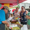 AMANDA SABGA/Staff photo<br /> <br /> John Girard makes guacamole for guest at his stall Patty's Guacamole during opening day of the Haverhill Farmer's Market in downtown Haverhill. <br /> <br /> 6/23/18