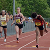 CARL RUSSO/Staff photo Haverhill's Camilla Cannon competes in the 100 meter sprint. East Mass. Div. 1 boys and girls  track meet was held at Andover High school Monday afternoon.  5/28/2018