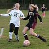 CARL RUSSO/staff photo. GAZETTE: Whittier captain, Erin Procurot shoots on net. Northeast defeated Whittier Tech 3-0 in girls soccer action. 10/30/2018