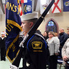CARL RUSSO/Staff photo Sea Cadet Anthony Olivieri of Bradford marches with other members of the color guard to begin the ceremony.<br /> <br /> The US Naval Sea Cadet Corps Constitution Division, sponsored by the Veterans Northeast Outreach Center in Haverhill, held their annual Inspection ceremony on Monday night, March 18. The Annual Inspection process is meant to provide feedback to Unit Commanding Officers and Regional Directors about the performance of their units, and to serve as an objective basis for discussions among Regional Directors and Commanding Officers about improving unit  training, recruiting, and administrative efforts.  3/18/2019