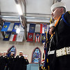 CARL RUSSO/Staff photo Sea Cadet Anthony Olivieri of Bradford, right and Seaman E3 Brendan Wages of Boxford and other color guard members prepare for the start of the ceremony. <br /> <br /> The US Naval Sea Cadet Corps Constitution Division, sponsored by the Veterans Northeast Outreach Center in Haverhill, held their annual Inspection ceremony on Monday night, March 18. The Annual Inspection process is meant to provide feedback to Unit Commanding Officers and Regional Directors about the performance of their units, and to serve as an objective basis for discussions among Regional Directors and Commanding Officers about improving unit training, recruiting, and administrative efforts.  3/18/2019