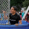 MIKE SPRINGER/Staff photo<br /> State Rep. Andy Vargas laughs after getting wet in the dunking tank during the National Night Out event Tuesday at Swasey Field in Haverhill.<br /> 8/6/2019