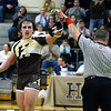 CARL RUSSO/Staff photo. GAZETTE: Haverhill's Joe Santoro defeated Methuen's Anthony Romano with a 6-2 win in the 182 pound match. Haverhill defeated Methuen 36-30 in Wednesday night wrestling. 1/16/2019