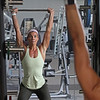 MIKE SPRINGER/Staff photo<br /> Tenley Goodwin of West Newbury works out at the Olympic weight lifting station at the newly rebuilt Cedardale Health and Fitness Club  in Haverhill.<br /> 6/17/2019