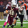 CARL RUSSO/Staff photo. Whittier's Joe Iannalfo finds running room. Whittier Tech was defeated 36-22 by Ipswich in Friday, November 8 football action. 11/8/2019