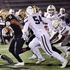 CARL RUSSO/Staff photo. Haverhill's Jabari Baptiste finds the opening  for more yardage. Haverhill defeated Lexington 42-28 in Friday night football action. 11/15/2019