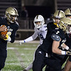 CARL RUSSO/Staff photo. Haverhill's Disani Houston has plenty of blocking as he starts his run. Haverhill defeated Lexington 42-28 in Friday night football action. 11/15/2019