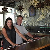 """TIM JEAN/Staff photo<br /> <br /> Maggie and Dan Osborn, Co-Owners of Barrio Tacos restaurant at Harbor Place in Haverhill. They plan on opening next week with its """"Day of the Dead"""" painted walls.   7/30/20"""