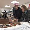 TIM JEAN/Staff photo <br /> <br /> Jim and Nancy House, of Merrimac look over items in the gift shop during Hot Metal Day at the Museum of Printing in Haverhill.   2/1/20