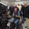 TIM JEAN/Staff photo <br /> <br /> Michael Babcock, seated makes an adjustment as he demonstrations printing on a Linotype Model 31during Hot Metal Day at the Museum of Printing in Haverhill.   2/1/20