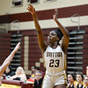 CARL RUSSO/staff photo. Grace Efosa takes the jump shot. Gr. Lowell at Whittier Tech. girls basketball. 1/31/2020.