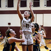 CARL RUSSO/staff photo. Whittier's Ally Talley drives to the basket. Gr. Lowell at Whittier Tech. girls basketball. 1/31/2020.
