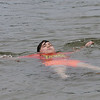 TIM JEAN/Staff photo<br /> <br /> Jaykob Method, 8, floats in the water on a hot day at Plug Pond recreation area in Haverhill.    6/27/20