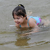 TIM JEAN/Staff photo<br /> <br /> Sophia Hilton, 3, of Haverhill, plays in the water while swimming at Plug Pond recreation area in Haverhill.    6/27/20