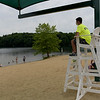 TIM JEAN/Staff photo<br /> <br /> Haverhill Park Ambassadors watch over the beach from the lifeguard chairs at Plug Pond recreation area in Haverhill.    6/27/20