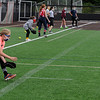 TIM JEAN/Staff photo<br /> <br /> Olivia Martin, 11, fields a ground ball during a softball clinic held at Haverhill High School. The clinic was run by the Haverhill Recreation Department and for girls ages 5 to 14 and held over several days.    8/27/20