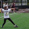 TIM JEAN/Staff photo<br /> <br /> Kaleigh Davoli, 11, throws back the ball after fielding it during a softball clinic held at Haverhill High School.   8/27/20