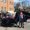 ALLISON CORNEAU/Staff photo<br /> Hunking School fifth grader Jacob Ryan-Smith enjoys a photo op with Batman.